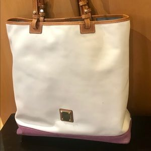 Dooney & Bourke leather and suede shopper tote